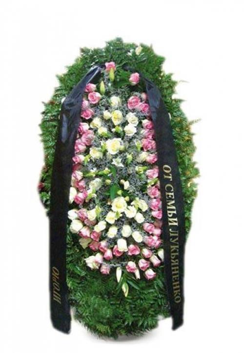 Венок ритуальный на похороны РВЖ12 в Москве