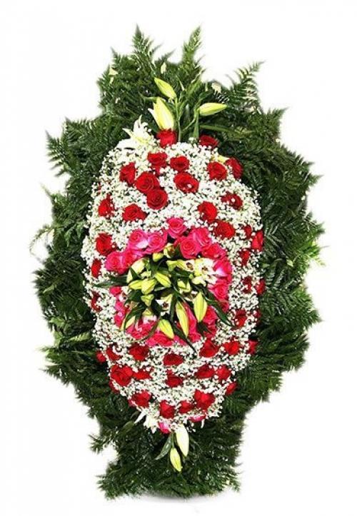 Венок ритуальный на похороны РВЖ5 в Москве