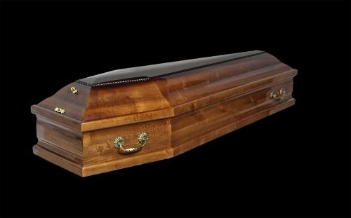 """Гроб элитный модель """"M6"""" (ольха)"""