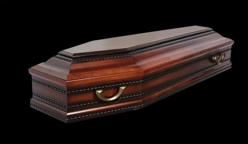 """Гроб элитный модель """"ARUS RED"""" (ольха)"""