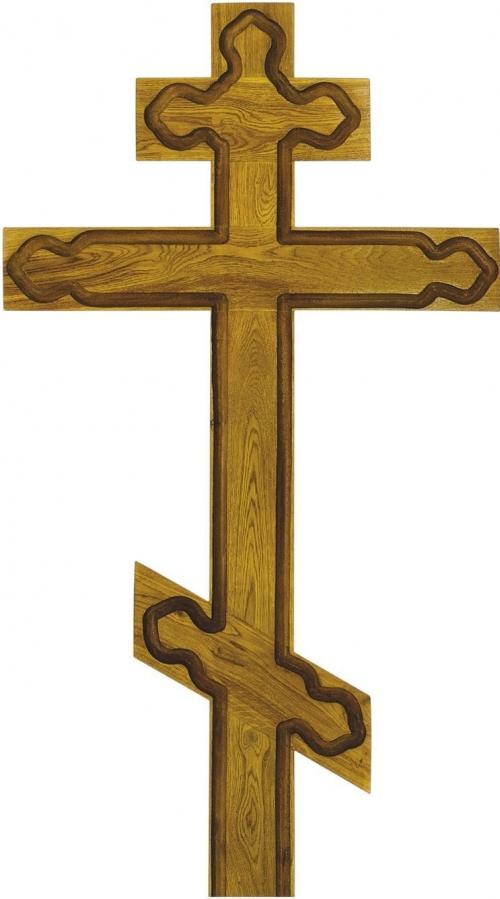 Крест на могилу дубовый «Византийский»