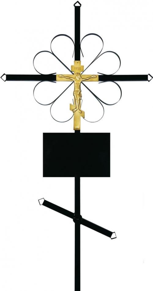 Крест на могилу «Металлический»