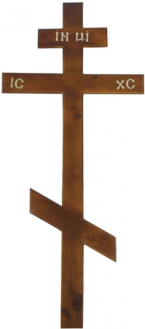Крест на могилу сосновый «Простой»
