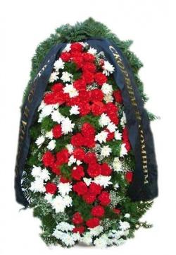 Венок ритуальный на похороны РВЖ6 в Москве