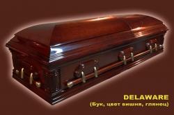 Гроб элитный модель DELAWARE (вишня, дуб, глянцевый)