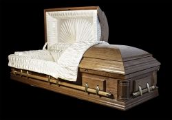 Гроб элитный модель DELAWARE (темный орех, дуб)