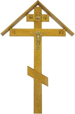 Крест для могилы дубовый «Элит домик»