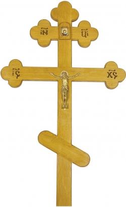 Крест на могилу дубовый «Элит»