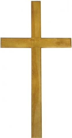 Крест католический дубовый
