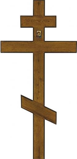 Крест для могилы дубовый «Широкий»