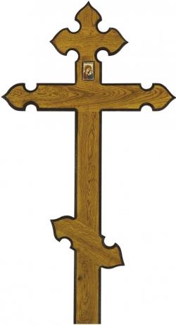Крест для могилы дубовый «Купол»